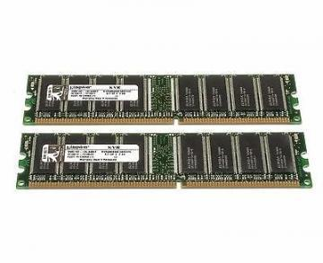 Kingston 2 x 1024MB 400MHz DDR CL3 (3-3-3) DIMM