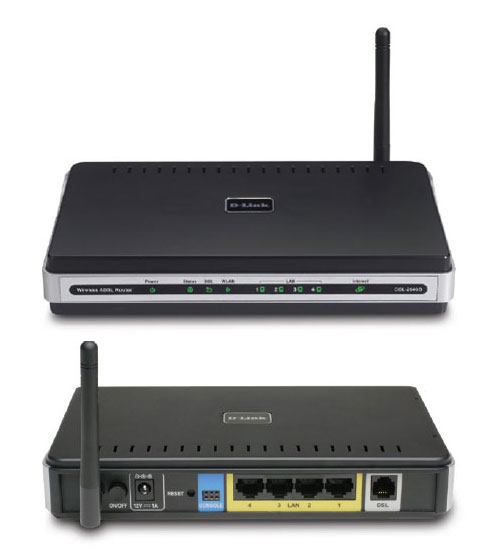 D-Link ADSL2+ Wireless G Router with 4 Port 10/100 Switch (AnnexA)