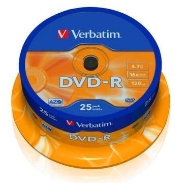 Verbatim DVD-R Matt Silver 4.7GB 16x 25 Pack Spindle