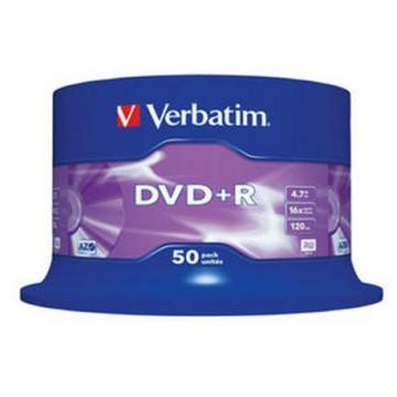 Verbatim DVD+R Matt Silver 4.7GB 16x 50 Pack Spindle