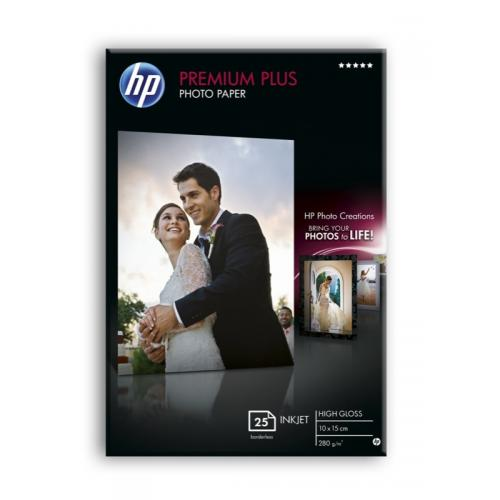 HP Premium Plus Photo Paper 10x15cm 25sh High-gloss