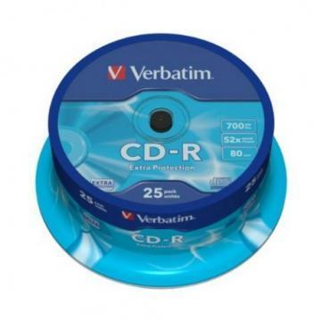 Verbatim CD-R Extra Protection 700MB 52x 25 Pack Spindle