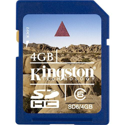 Kingston SecureDigital High Capacity 4GB Class 6