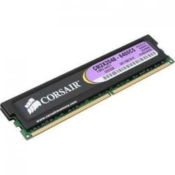 Corsair 2048MB 800MHZ DDR2 non-ECC, CL5 DIMM, XMS2 with Classic Heat Spreader