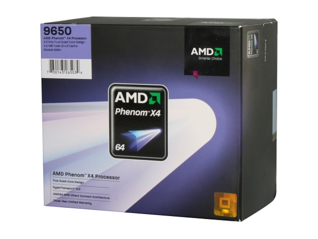 AMD Phenom X4 Quad Core 9650, Socket AM2+, 95W, 65nm SOI, BOX
