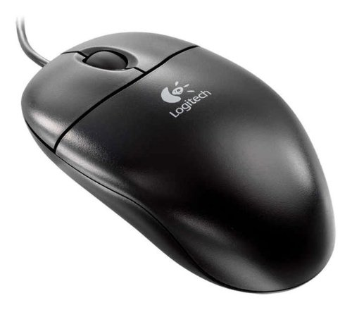 Logitech S96 Optical Wheel Mouse Black PS2