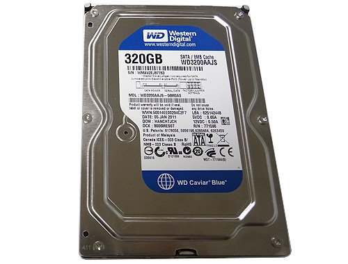 WD Caviar Blue, 3.5in, 320GB, SATA/300, 7200RPM, 8MB cache