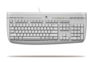 Logitech Deluxe Keyboard Sea Grey PS/2