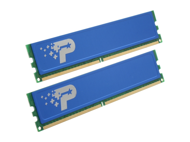 Patriot 2x1024MB 667MHz DDR2 Non-ECC CL5 DIMM w/Heatshields, Dual Kit