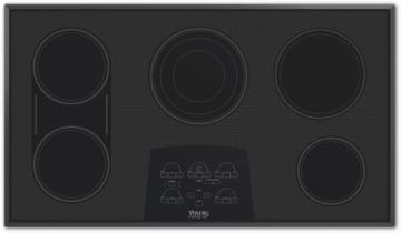"Viking 36"" Electric Radiant Touch Control Cooktop - DETU"