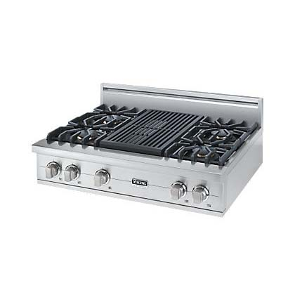 "Viking 36"" Custom Sealed Burner Rangetop - VGRT"
