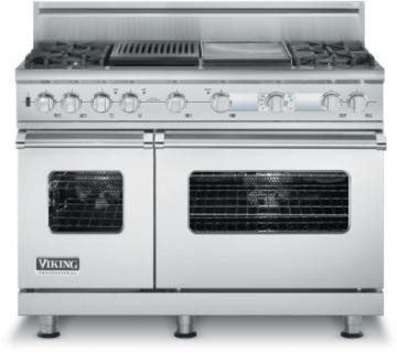 "Viking 48"" Custom Sealed Burner Dual Fuel Electronic Control Range - VDSC"