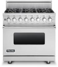 "Viking 36"" Custom Sealed Burner Dual Fuel Range - VDSC"
