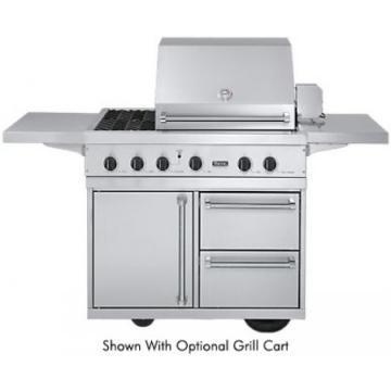 "Viking 41"" Ultra-Premium T-Series Grill with TruSear & Side Burners - VGIQ"