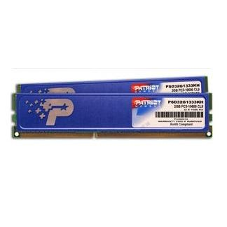 Patriot 2X2GB 1333MHz DDR3 Non-ECC CL9 DIMM