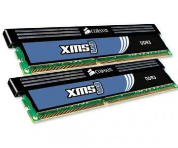 Corsair XMS3 2x2GB, 1600MHz DDR3 CL9, Core i7, XMP, Classic Heat Spreader