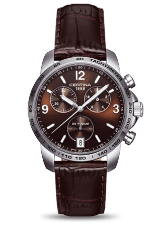 Certina DS Podium chronograph brown