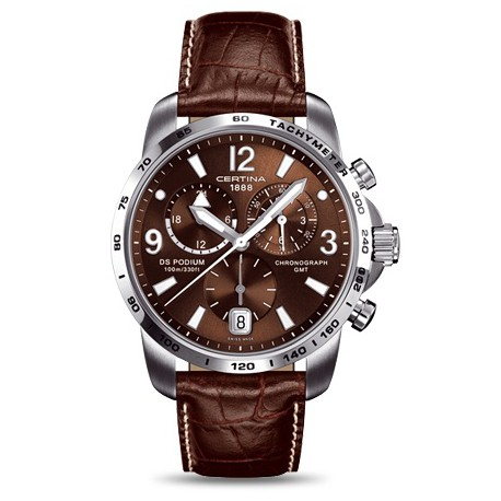 Certina DS Podium GMT chronograph brown