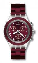 Swatch Irony Diaphane Burgundy chronograph
