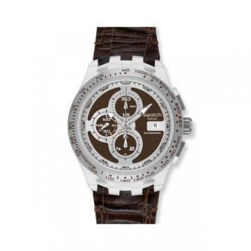 Swatch Irony Right Track Brown chronograph