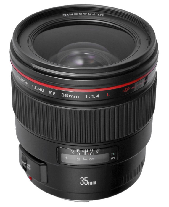 Canon EF 35mm f/1.4 L USM lenses