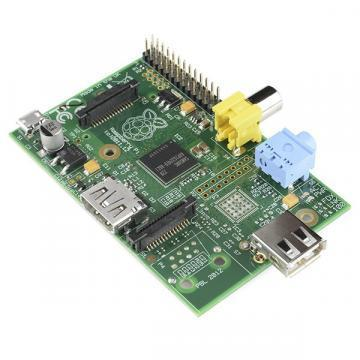 Raspberry Pi Model A credit-card sized computer
