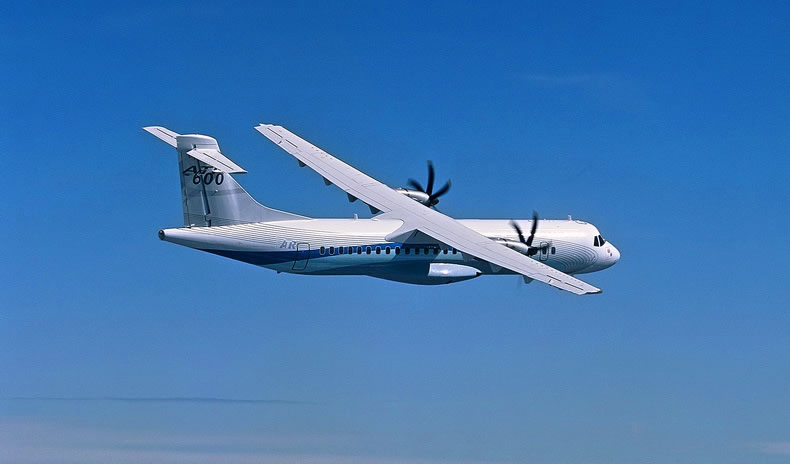 ATR 72-600 twin-turboprop regional airliner