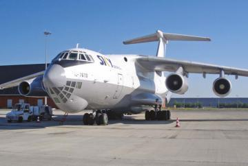 Ilyushin Il-76 four-engined strategic airlifter