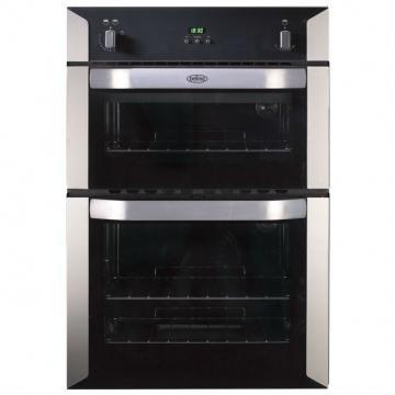 Belling 90cm built-in gas double oven with programmable timer