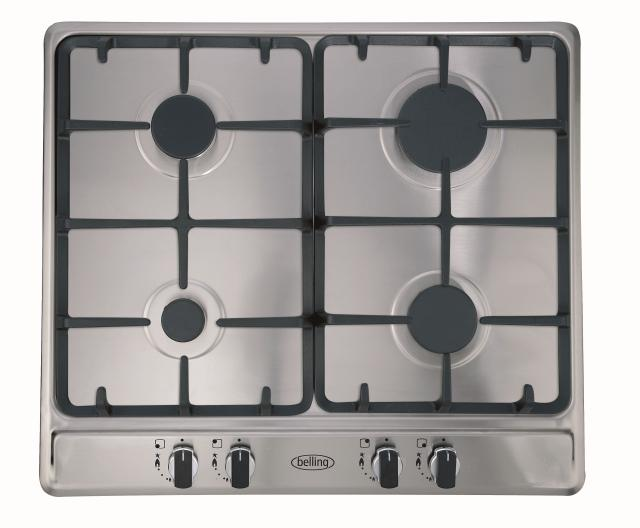 Belling GHU60GC 60cm gas hob with cast iron pan supports