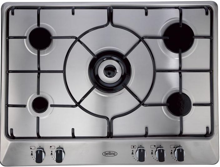 Belling GHU70GE 70cm gas hob with enamel pan supports
