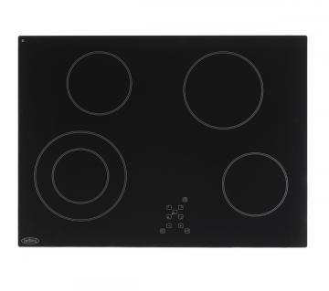 Belling CH70TX Black 70cm ceramic hob with touch controls