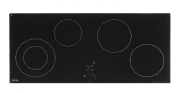 Belling CH90TX Black 90cm ceramic hob with touch controls