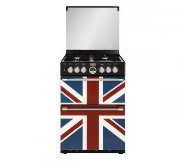 Stoves Sterling 600DF Union Jack Colour 600mm wide dual fuel mini range cooker