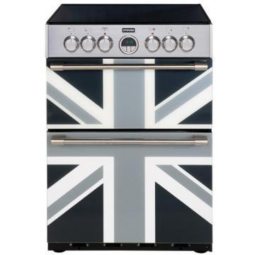 Stoves Sterling 600Ei Union Jack Monochrome 600mm electric fanned double oven