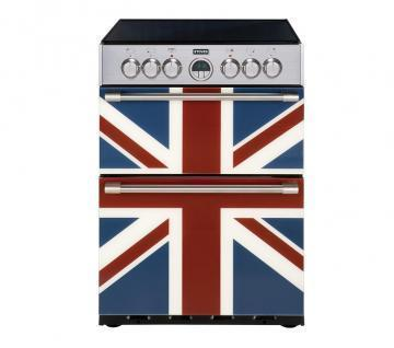 Stoves Sterling 600E Union Jack Monochrome 600mm electric double oven