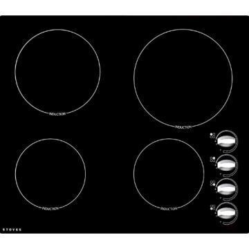 Stoves SEH600iRX 600mm Electric Ceramic Induction Hob with Rotary Controls
