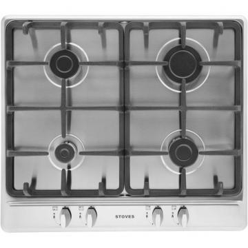 Stoves SGH600C 600mm Gas Hob with Cast Iron Pan Supports