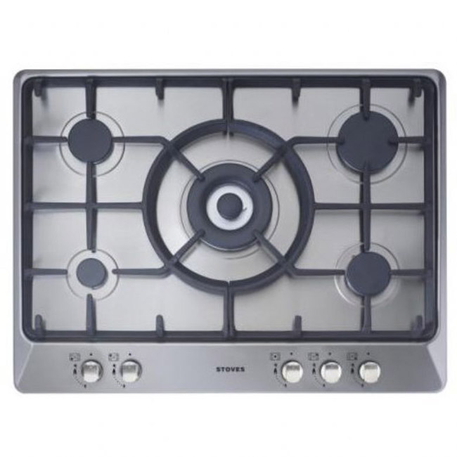 Stoves Sterling G700C 700mm gas hob with cast iron pan supports