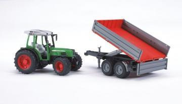 Bruder Fendt 209 S with tipping trailer toy