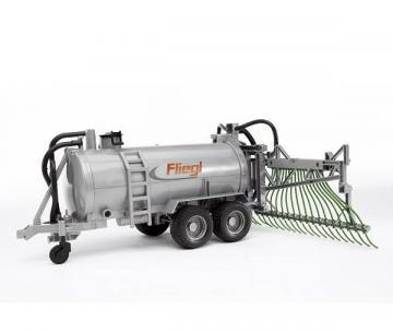 Bruder Fliegl barrel trailer with spread tubes toy