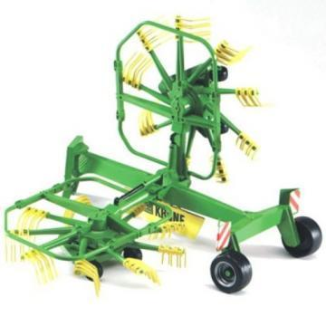 Bruder Krone dual rotary swath windrower toy