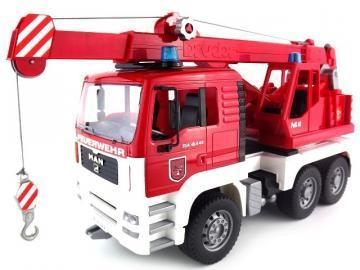 Bruder MAN Fire engine crane truck toy