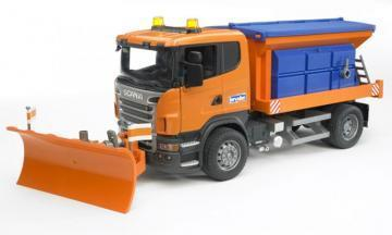 Bruder SCANIA R-series truck winter service toy