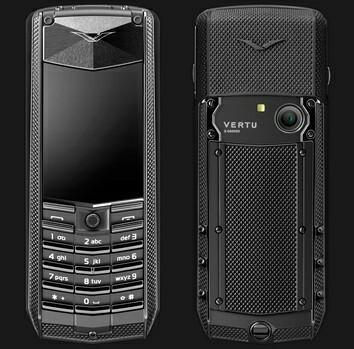 Vertu Ascent Black Knurl luxury mobile phone