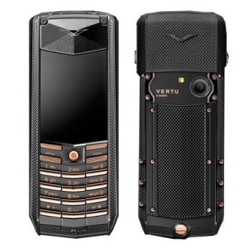 Vertu Ascent Black Knurl Red Gold luxury mobile phone