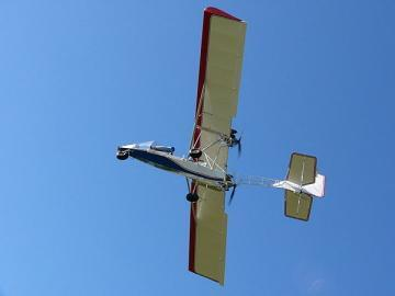 Blue Yonder Twin Engine EZ Flyer two-seat, open cockpit aircraft
