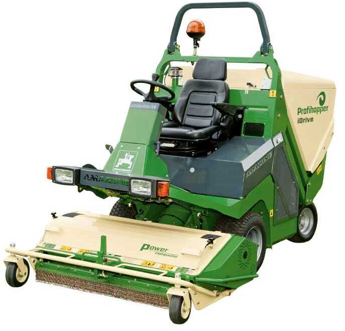 Amazone Profihopper iDrive mower and scarifier