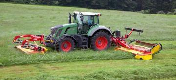 Fella SM 911 TL-KCB mower combination
