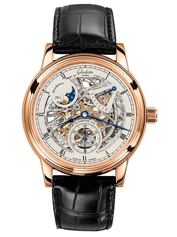 Glashütte Senator Moon Phase Skeletonized Edition chronograph